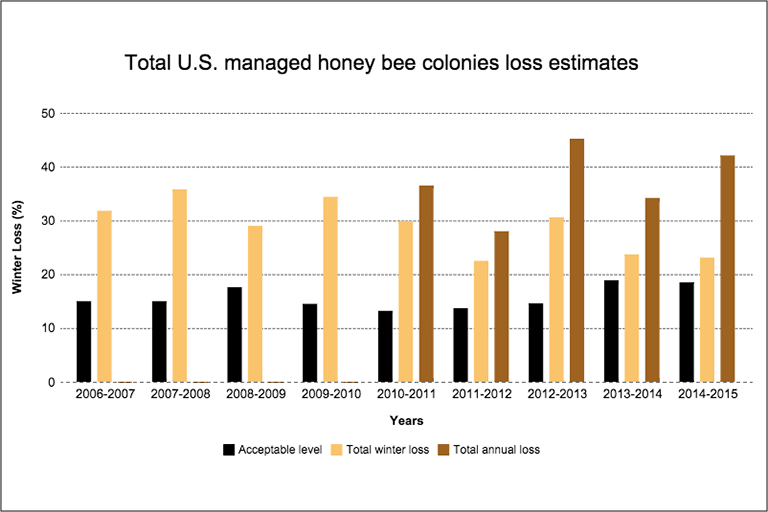 Bee loss graphic